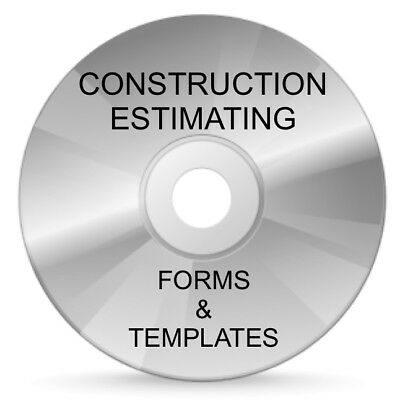 Construction Estimating Forms & Templates - Cd