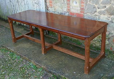 19th Century Arts and Crafts Oak and Mahogany Library Table, Boardroom Table