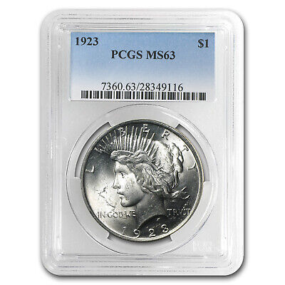 1923 Peace Dollar MS-63 PCGS - SKU #4741