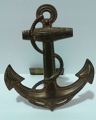 Vintage Brass Anchor Nautical Door Knocker Made in India