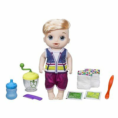 New! Baby Alive Sweet Spoonfuls Blond Boy Doll HASBRO Officially Licensed NIB