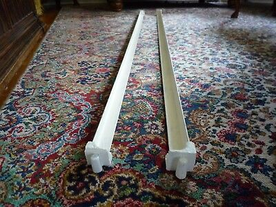 """Vintage Pair of Iron Bed Rails Tapered Round Pin Ends Drop In Slot Style 74"""""""