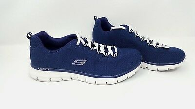 NEW! WOMEN'S SKECHERS 11972 Synergy Safe & Sound Athletic Shoes SIZE 8 Navy O54