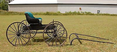 Antique Doctor's Horse Drawn Buggy Carriage Sleigh Wagon with Hitch, Amish