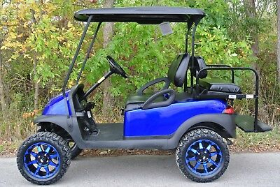 METAL2010 CUSTOM CLUB CAR PRECEDENT I2 GAS GOLF CART lic Blue CUSTOM CLUB  CAR PRECEDENT GAS GOLF CART Shipping Available