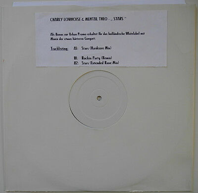 "★★12"" Nl**charly Lownoise & Mental Theo - Stars (White Label / Promo)★★19605"