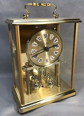 Elgin Quartz Battery Powered Anniversary Mantle Clock Works Made In USA