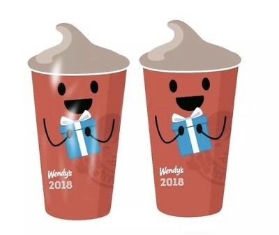 2 (Two) Wendy's 2018 Key Tag Keychain Free Jr Frosty Every Visit - Free shipping