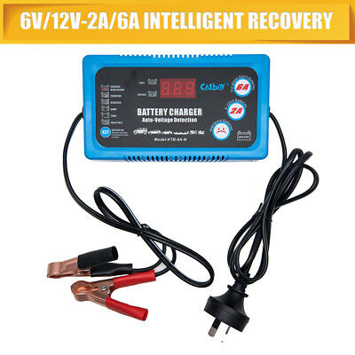 MASO Battery Charger Maintainer,6V 12V Intelligent Fully Automatic Smart