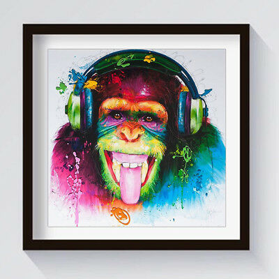 Unframed Modern Abstract Oil Painting Canvas Colorful Orangutan Huge Wall Decor