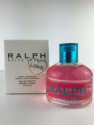 Ralph LOVE by Ralph Lauren WOMEN PARFUM Spray 3.4 OZ EDT NEW IN WHITE TESTR~BOX