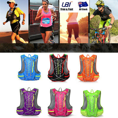 New 12L Running Cycling Vest Backpack Sports Camping Hydration Water Bladder Bag