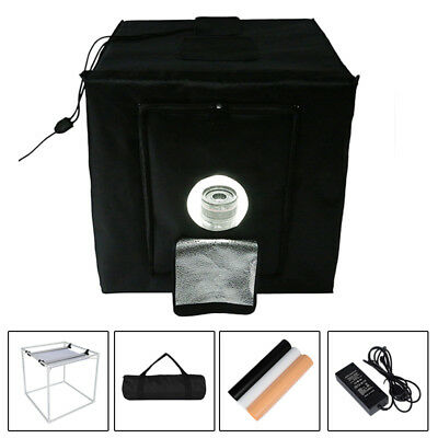 40cm  Square Photo Studio Soft Box Tent +3 x Background Backdrops Kit +LED Light