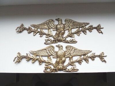 Pair Of Antique French Bronze Furnitures Decoration Eagle Napoleon