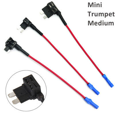 Mini/Medium/Small Standard Add A Circuit Fuse Tap Piggy Back Blade Holder Simple