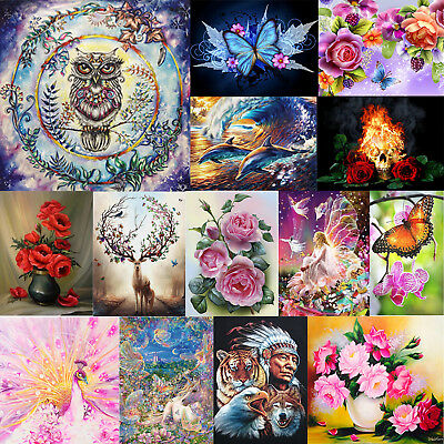 DIY 5D Diamond Painting Garland Owl Embroidery Cross Craft Stitch Kit Home Decor