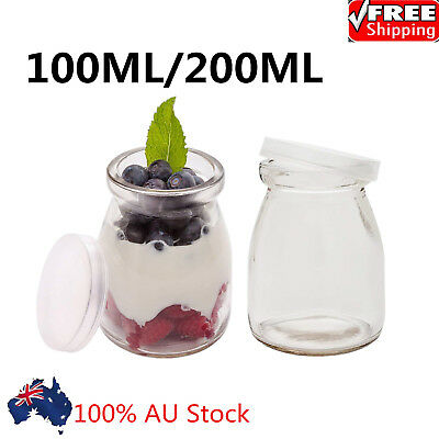 Cooking Milk Bottle Glass Pudding Jars With Lid Yogurt Cup High Temperature Cup