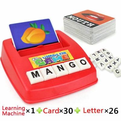 Baby Kids English Word Spelling Picture Early Educational Flash Card Game Toy