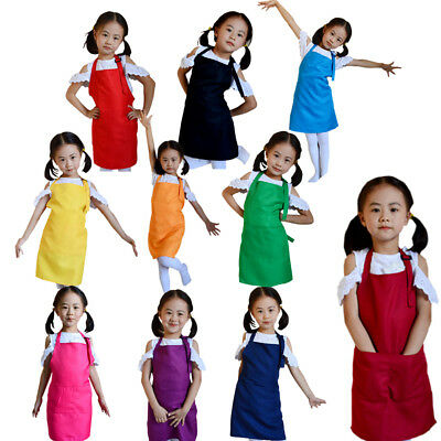 Baby Girls Boys Aprons Kitchen Lunch Garden Kid's Aprons Keep Cleaning Pinafore