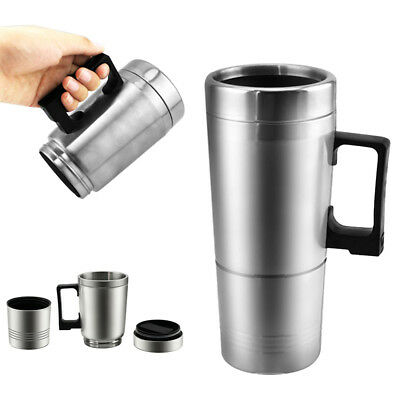 Stainless Steel Car Van Heated Cup 24V Electric Thermos 300ML Insulation Bottle