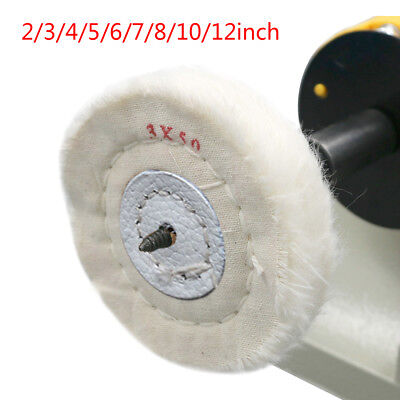 "3""-12"" Cotton Lint Cloth Buffing Wheel Jewelry Polishing Wheel 4mm Inner Hole"