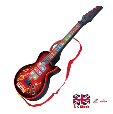 4 Strings Electric Guitar Musical Instruments Educational Toy Kids Birthday Gift