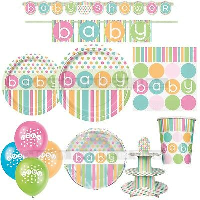 Baby Shower UNISEX Party Tableware & Decorations Supplies Girl or Boy