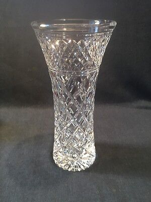 "Stuart Crystal Vase In The Sandringham Pattern 8"" (ref P683)"