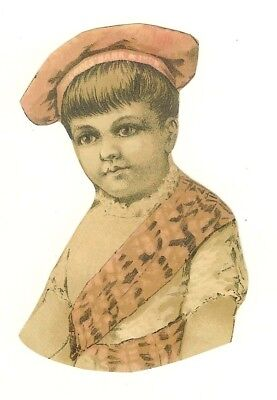 lot of five 5 Boys and Girls Child Nice small Victorian Scrap cir 1880 - 1890