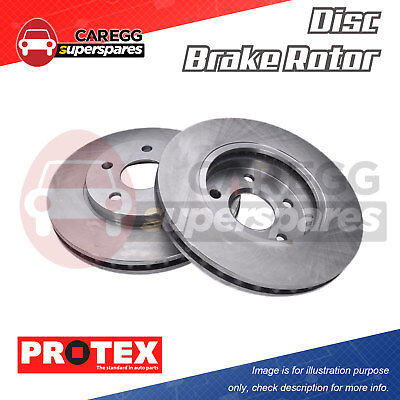 Pair Front Protex Disc Brake Rotors DR817 For HOLDEN Astra TS Non ABS 98-06