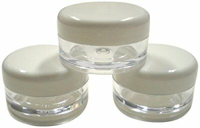 5ml Empty Plastic Cosmetic Jars with WHITE Lids *MULTILISTING* for