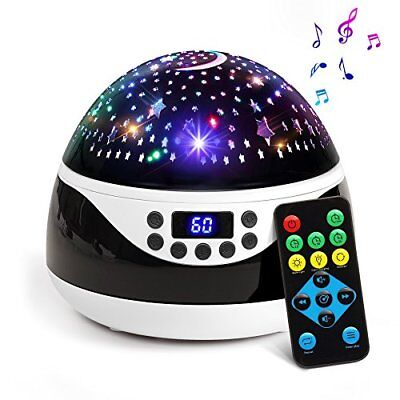 Baby Night Light Star Projector with Timer Music Player Rotating Constellation