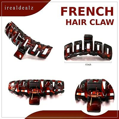 French Glossy Hair Claw 4 x 2 Inch Made Of Celluloid Acetate Claws Hair Clip P9