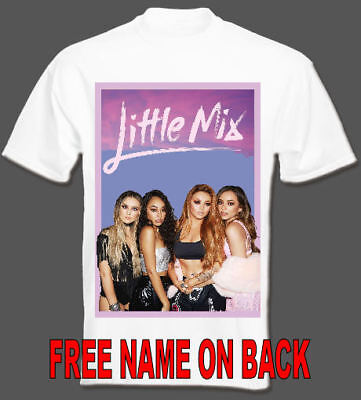 LITTLE MIX T SHIRT all sizes Children concert 2018 personalised on back ladies