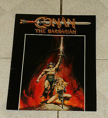 original CONAN THE BARBARIAN movie promo foldout advertisement Schwarzenegger