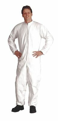 Dupont Disposable Coveralls with Elastic Cuff, White, XL, Tyvek IsoClean -