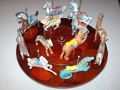 Complete Set #2 Franklin Mint Treasury of Carousel Art w/ Certs & Stand