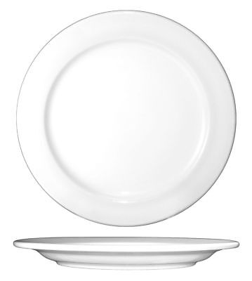 ITI Plate, 12 In. Dia, European White, PK12 - DO-21