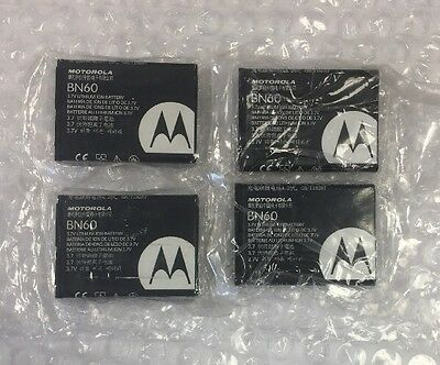 LOT OF 4  Motorola BN60 Batteries