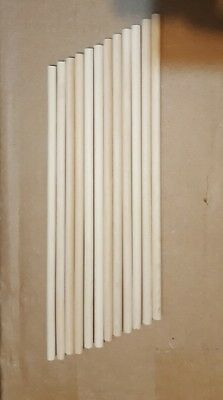 "Brand New Lot of 10 Birch Wooden Dowel Rods 3/8"" x 12"" Unfinished For Crafts"