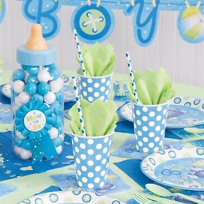 Baby Shower BOYS Party Tableware & Decoration Supplies Boy Napkins Plate Cup