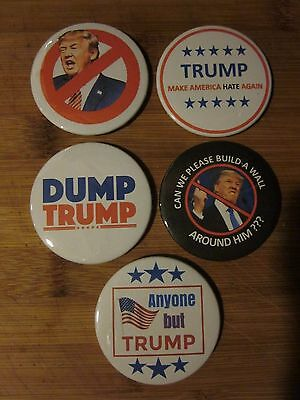 Anti Trump Set of 5 Pinback Buttons or Magnets (Set 1) - Join the resistance