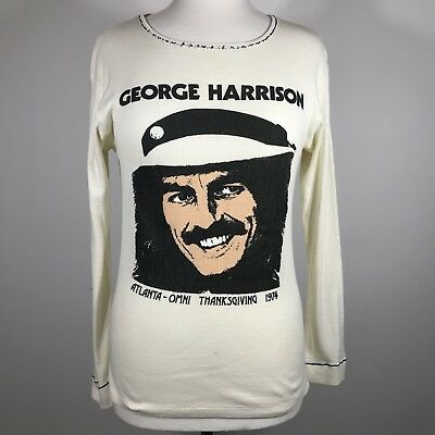 George Harrison Shirt Vintage 1974 Atlanta Omni Thanksgiving Concert Tee