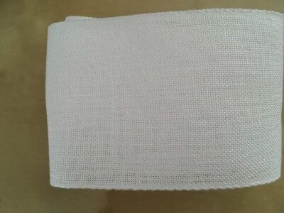 Half metre Zweigart Linen Band Cross Stitch Embroidery 72022/1 80mm wide White