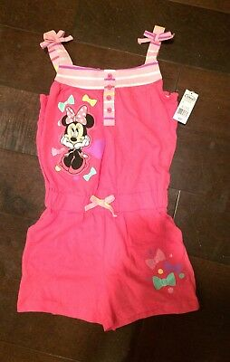 Minnie Mouse Romper Disney Girls Size 5/6 5T New