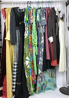 Lot of 20 Vintage 60s 70s Dress Shift Floral Mini Maxi Boho Disco Repair Resell