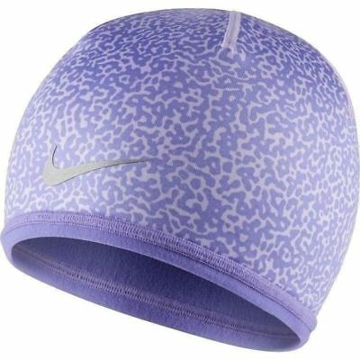 New NIKE Di-Fit Youth Reversible Running Cold Weather Beanie-OSFM Purple