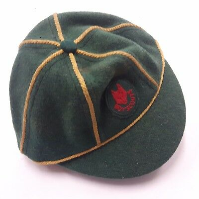 Wolf Cub Cap Boy Scouts Green Vintage Official