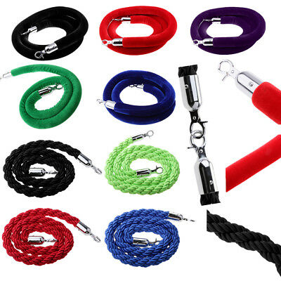 1.5m/2m/3 meter Twisted/ Velvet Queue Barrier Rope for Posts Stands Exhibition