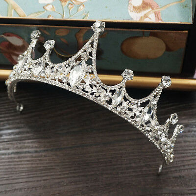 5cm High Adult Clear Crystal Wedding Bridal Party Pageant Prom Tiara Crown